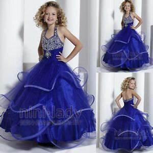 Robe Bleu Demoiselle D Honneur : bleu communion robe de princesse fille mariage robe demoiselle d honneur enfant ebay ~ Dallasstarsshop.com Idées de Décoration