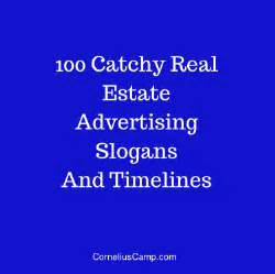 100 catchy real estate advertising slogans and timeless cornelius c