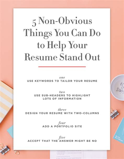 Things You Can Put On Your Resume by 5 Non Obvious Things You Can Do To Make Your Resume Stand