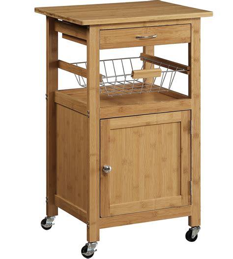 Bamboo Kitchen Cart In Kitchen Island Carts