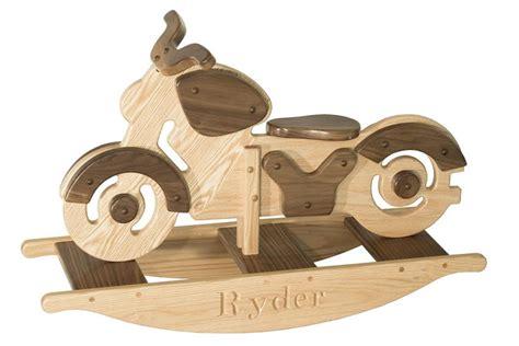 wooden kids motorcycle rocker  dutchcrafters amish furniture