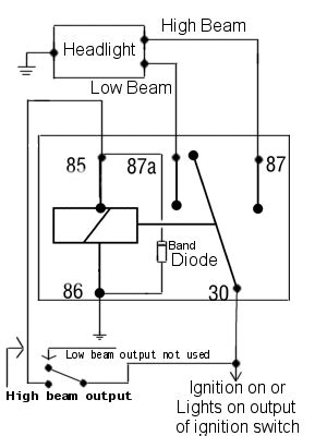 Power Diverting Relay Schematic Diagram Bobbers Car