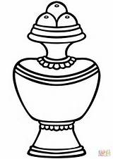 Vase Treasure Coloring Pages Printable Ipad Clipart Symbols Drawing Buddhist Buddhism Clipartmag Dot Categories sketch template