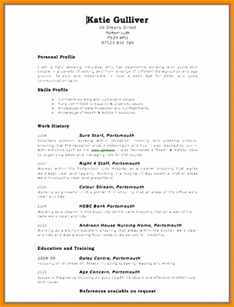 7 free chronological resume template free sles
