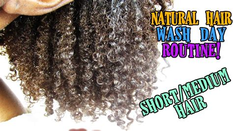 Wash Day Routine Shortmedium Natural Hair Youtube