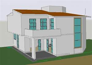 House Double Height 3d Dwg Model For Autocad  U2022 Designs Cad