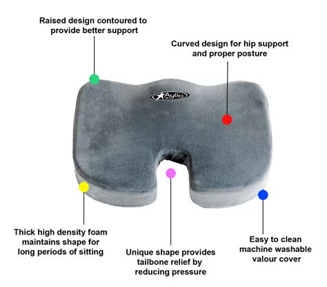 aylio coccyx orthopedic comfort foam seat cushion what s the best cushion for tailbone relief