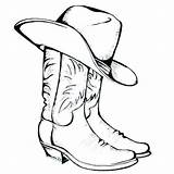 Cowboy Coloring Hat Printable Pages Boots Cowboys Cowgirl Cattle Western Boot Osu Dallas Drive Silhouette Getcolorings Getdrawings Stars Snowmen Night sketch template