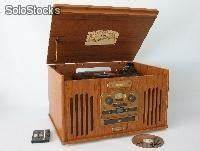 Radio Mit Cd Spieler : audioger t 4in1 stereo nostalgie platten cd ~ Jslefanu.com Haus und Dekorationen