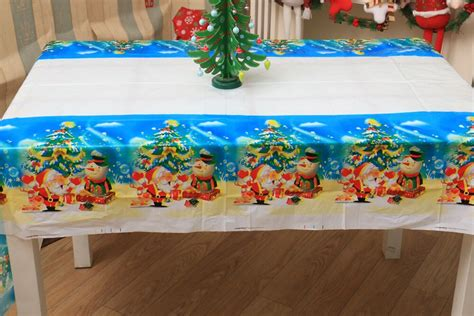 fashion christmas tablecloth disposable merry christmas