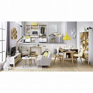 Chaise Scandinave Grise : chaise style scandinave grise et ch ne massif ice ~ Melissatoandfro.com Idées de Décoration