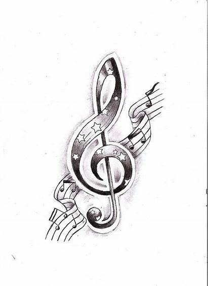 Key Tattoo Drawing Violin Notes Lilz Eu