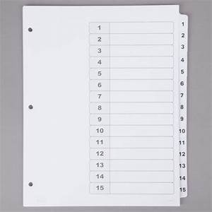 Avery 15 tab template for Avery 15 tab dividers
