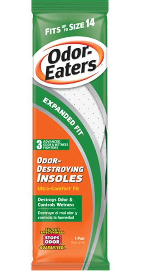 Expanded Fit Odor-Destroying Insoles | Odor Eaters