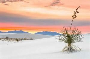Sunset at White Sands National Monument New Mexico