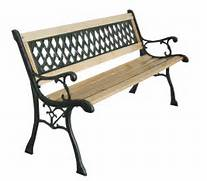 Outdoor Patio Furniture With Bench Seating by New 3 Seater Outdoor Home Wooden Garden Bench With Cast Iron Legs Seat Furnit