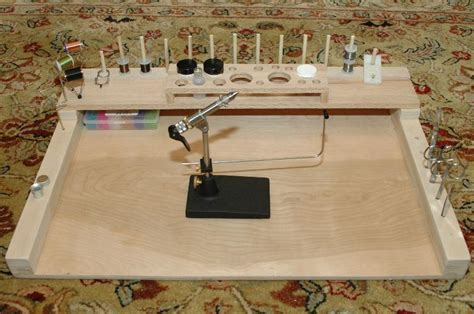 Fly Tying Desk Top Plans by Diy Fly Tying Bench How To Make A Gun Cabinet From Wood