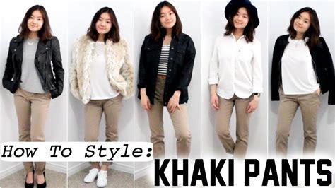 How To Style Khaki Pants Youtube