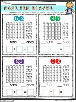 place  fun base ten blocks tens