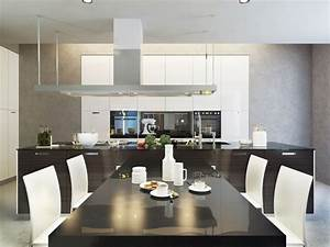 deco d39une maison d39architecte With salle À manger contemporaine avec installation cuisine Équipée