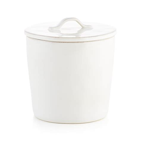 white kitchen canister marin medium white ceramic kitchen canister crate and barrel