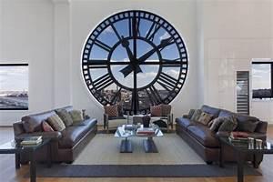 Wanduhr Design Wohnzimmer : 30 attraktive wanduhr designs verleihen dem raum dynamischen charme ~ Buech-reservation.com Haus und Dekorationen