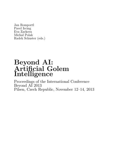 (PDF) Beyond AI: Artificial Golem Intelligence (BAI2013