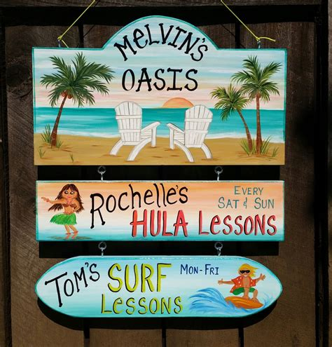 Custom Backyard Signs by Custom Pool Oasis Backyard Sign Yard Summer Sign