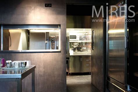 cuisine metal passe plat  mires paris