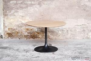 Table Basse Tulipe : table basse ronde bois tulipe style knoll gentlemen ~ Teatrodelosmanantiales.com Idées de Décoration