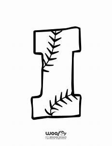 baseball alphabet letter i woo jr kids activities With baseball alphabet letters