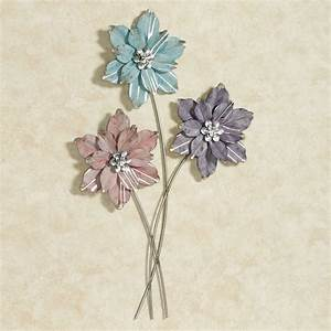 summer blooms floral metal wall art With floral wall art