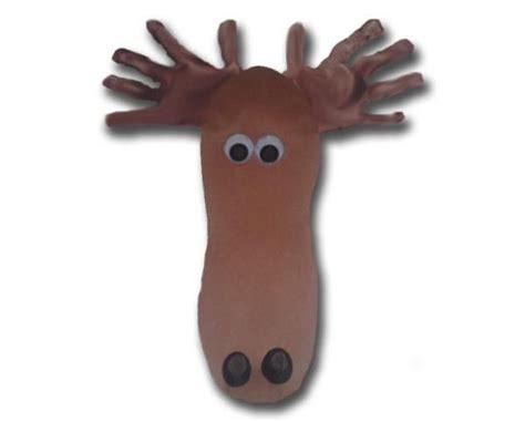 craft ideas for footprint moose preschool project laurel s 3832