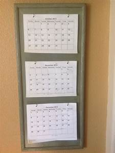3 month calendar holder diy great for planning and With kitchen cabinets lowes with candle holders diy