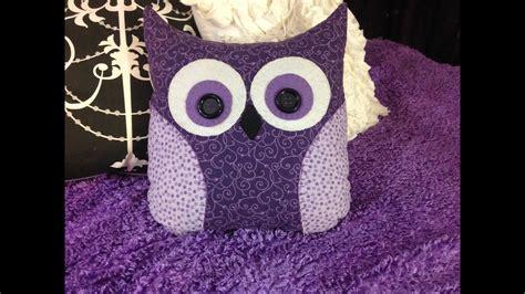 diy owl pillow youtube