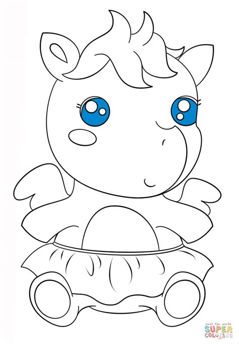 cute baby pegasus coloring page  printable coloring pages