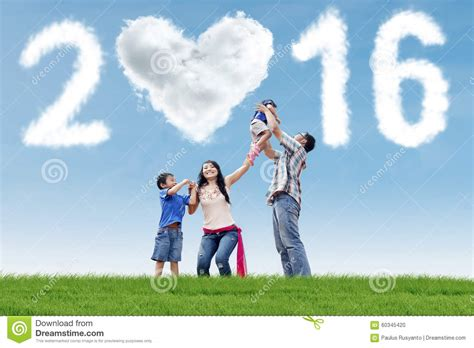 New Celebrate Family Friends Life: Hispanic Family Celebrate New Year Stock Photo