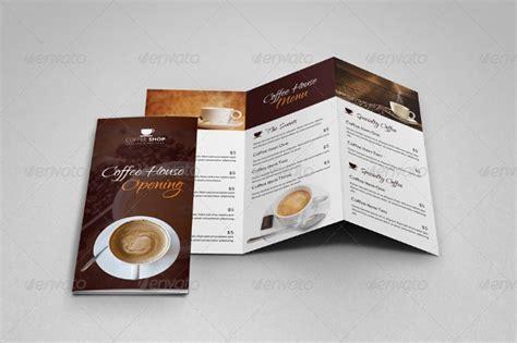 coffee shop brochure designs  templates word psd