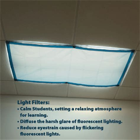 Cover Fluorescent Ceiling Lights by Classroom Lights Filters Item No 9058
