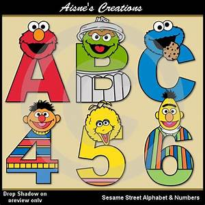 82 best aisne39s creations etsy alphabet numbers images With sesame street alphabet letters