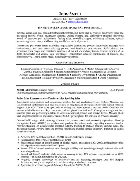 senior sales representative resume template premium
