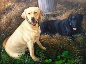 Gemälde In öl : gem lde von zwei hunden in l auf leinwand bild kunst ~ Sanjose-hotels-ca.com Haus und Dekorationen