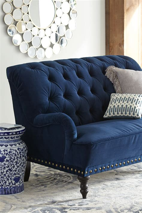 navy blue sofa and loveseat chas navy blue velvet loveseat in 2019 living room decor