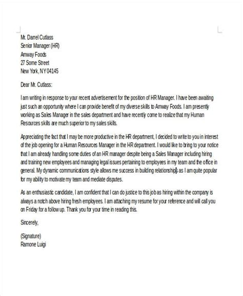 Exles Of Career Change Cover Letters by Covering Letter Career Change Letter Of Recommendation