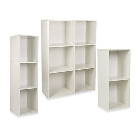bed bath and beyond bookcase way basics tool free assembly bookcase and storage shelf