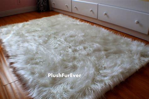 large faux sheepskin rug 4 39 x 5 39 luxury black brown white faux fur rug