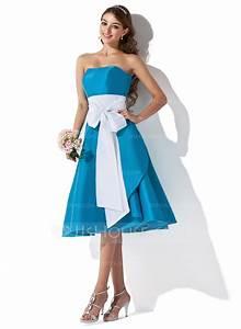 Robe Bleu Demoiselle D Honneur : forme princesse bustier en coeur longueur genou taffeta robe de demoiselle d 39 honneur avec ~ Dallasstarsshop.com Idées de Décoration
