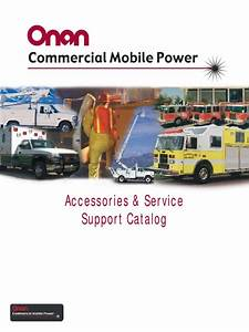 Onan Accessories  U0026 Service Support Catalog