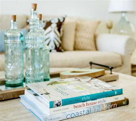 You can also mix your friendly coffee table with other friendly stuffs, like rug or chair. Coastal Decor Books for your Coffee Table in 2020   Beach house decor, Beach house