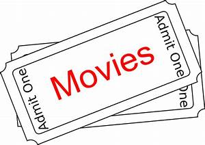 Movies Ticket Button Clip Art at Clker.com - vector clip ...